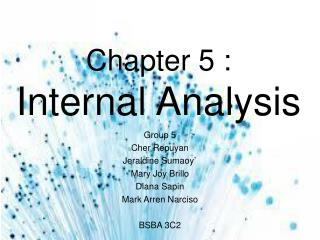Chapter 5 :  Internal Analysis
