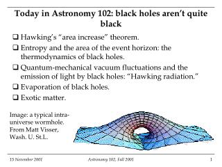 Today in Astronomy 102: black holes aren't quite black