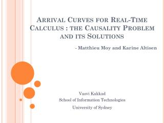 Arrival Curves for Real-Time Calculus : the Causality Problem and its Solutions