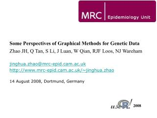 Some Perspectives of Graphical Methods for Genetic Data