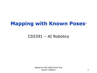 Mapping with Known Poses *