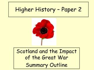 Higher History – Paper 2