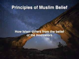 Principles of Muslim Belief