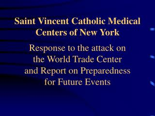 Saint Vincent Catholic Medical Centers of New York