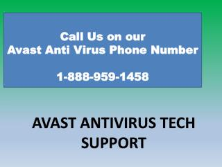 1-888-959-1458|Avast internet security support number-Avast