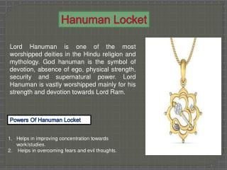 Hanuman locket