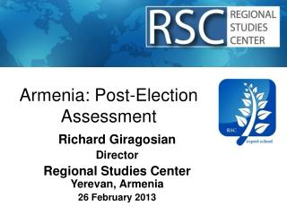 Armenia: Post-Election Assessment