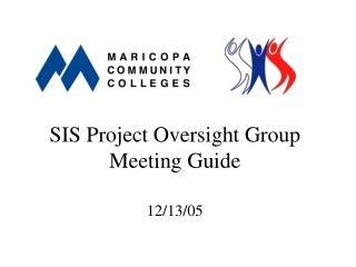 SIS Project Oversight Group Meeting Guide