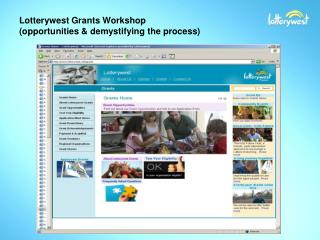 Lotterywest Grants Workshop (opportunities & demystifying the process)