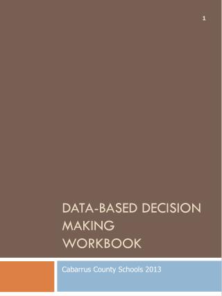 Data-based decision making  workbook