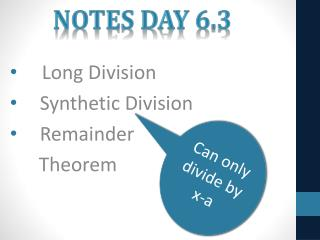 Notes Day 6.3