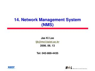 14. Network Management System (NMS)