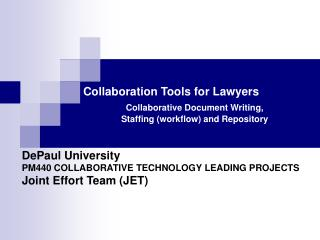 Collaboration Tools for Lawyers