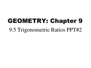 GEOMETRY: Chapter 9