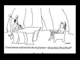 New Yorker on Power Point
