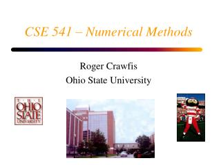 CSE 541 – Numerical Methods