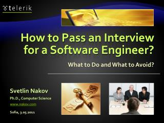 How to Pass  an Interview  for a Software Engineer?