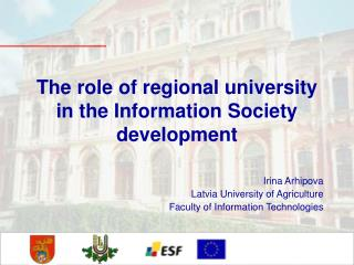 The role of regional university in the Information Society development