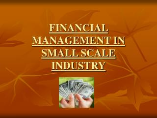 FINANCIAL MANAGEMENT IN SMALL SCALE INDUSTRY