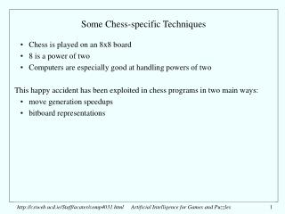 Some Chess-specific Techniques