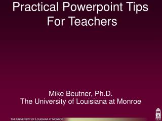 Practical Powerpoint Tips  For Teachers