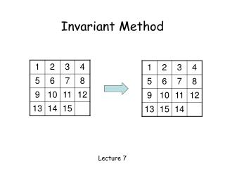 Invariant Method