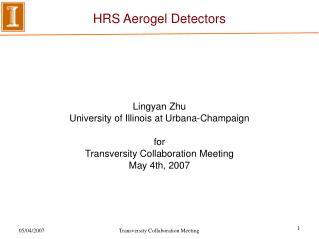 HRS Aerogel Detectors