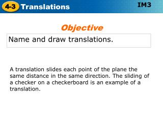 Name and draw translations.