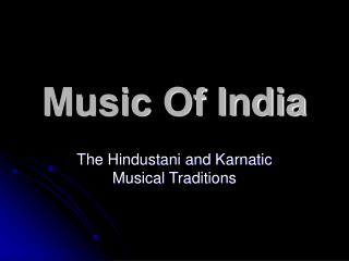 Music Of India