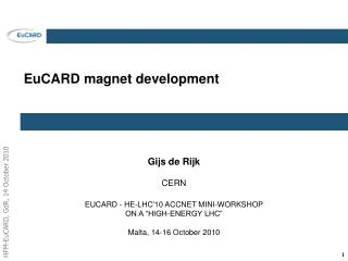 EuCARD magnet development
