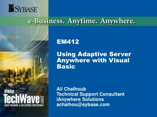 EM412  Using Adaptive Server Anywhere with Visual Basic
