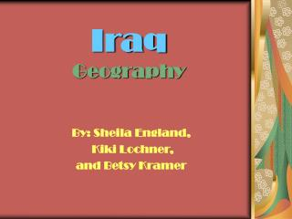 Iraq Geography