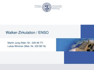 Walker-Zirkulation / ENSO