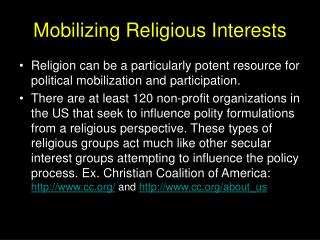 Mobilizing Religious Interests