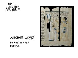 Ancient Egypt How to look at a papyrus.