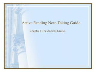 Active Reading Note-Taking Guide