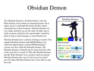 Obsidian Demon