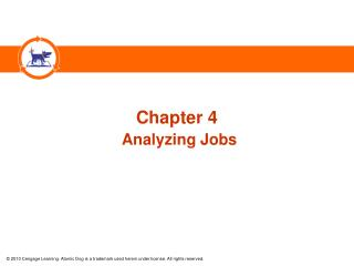 Chapter 4 Analyzing Jobs