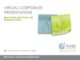 VIRTUAL CORPORATE PRESENTATIONS