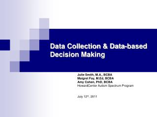 Data Collection & Data-based Decision Making