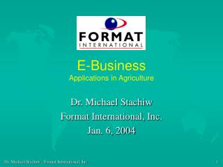 E-Business Applications in Agriculture