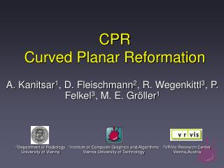 CPR Curved Planar Reformation