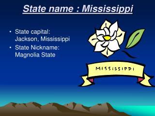 State name : Mississippi