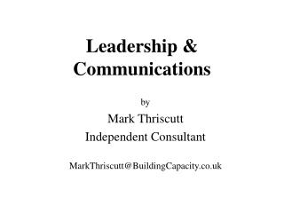 Leadership & Communications