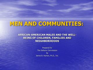 MEN AND COMMUNITIES :