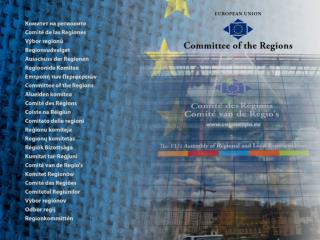 Why  a Committee of the Regions ?