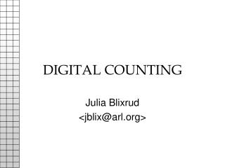DIGITAL COUNTING