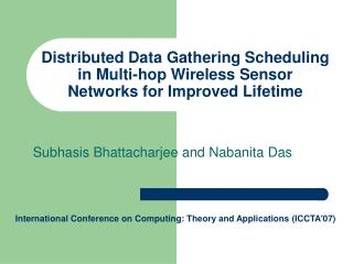Distributed Data Gathering Scheduling in Multi-hop Wireless Sensor Networks for Improved Lifetime