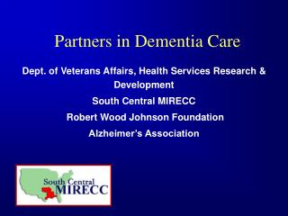 Partners in Dementia Care