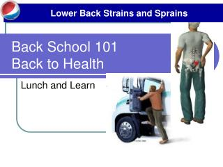 Back School 101 Back to Health
